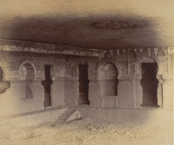 Interior of Buddhist vihara, Cave VII, Nadsur 10032616